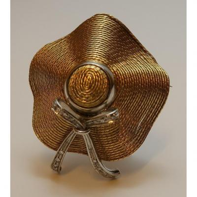 Gold And Diamond Brooch C.1920-30