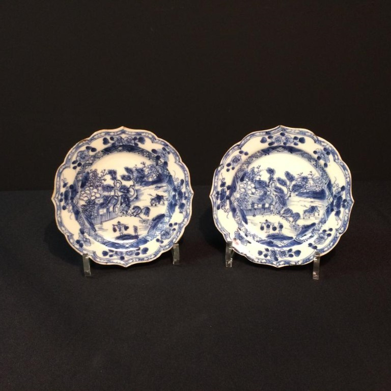 Pair Of Porcelain Plates From China XVIII