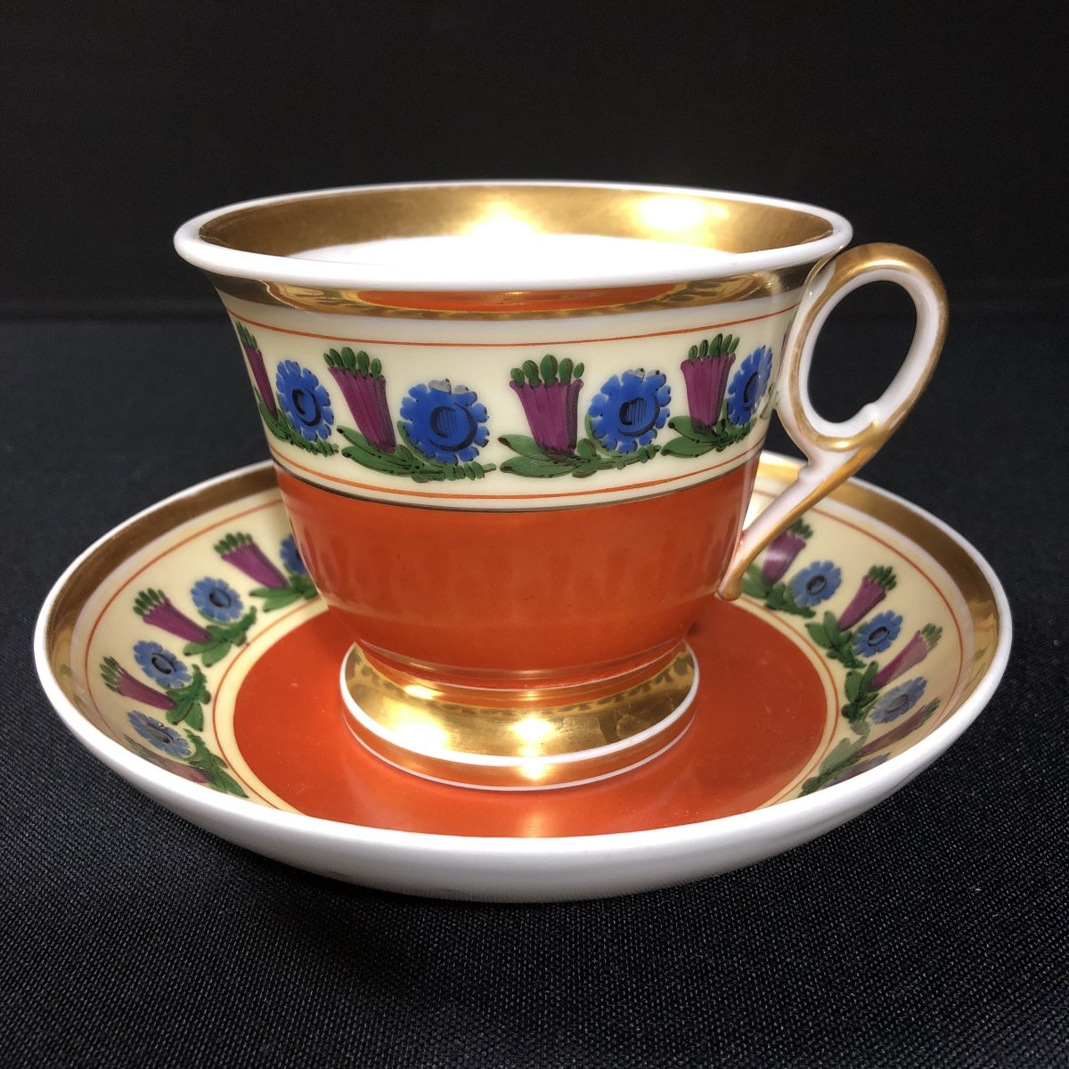 Chocolate Cup And Saucer In Paris Porcelain-photo-1