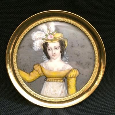 Miniature sur ivoire
