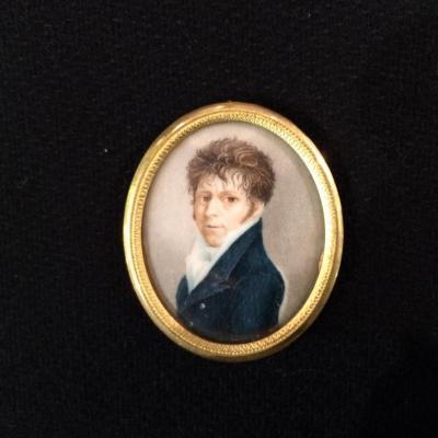 Portrait en miniature d'époque Consulat