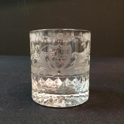 "Goblet Called ""wedding Glass"" In Crystal"