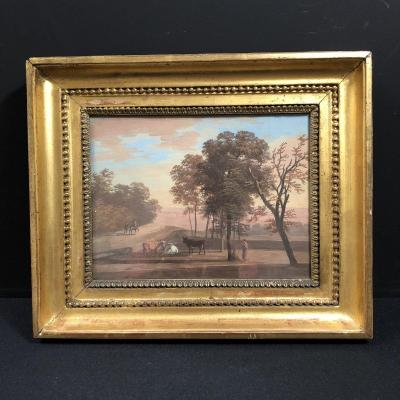 Paysage italianisant  attribuée à Louis Gadbois