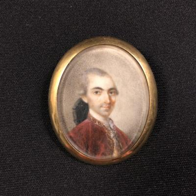 Miniature Portrait Of Jacques Louis Marion Brézillac (1743-1785)