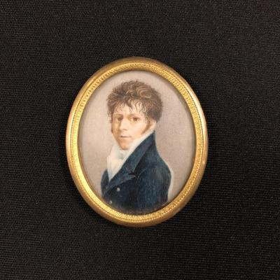 Miniature Portrait Of One Of The Sons Of Jacques Louis De Marion Brézillac