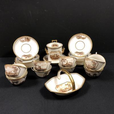 Service à thé ou à café en porcelaine signé Géo Rouard