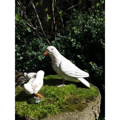 Oiseau En Céramique De Bavent