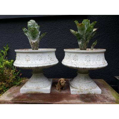 Paire De Vases En Fonte...