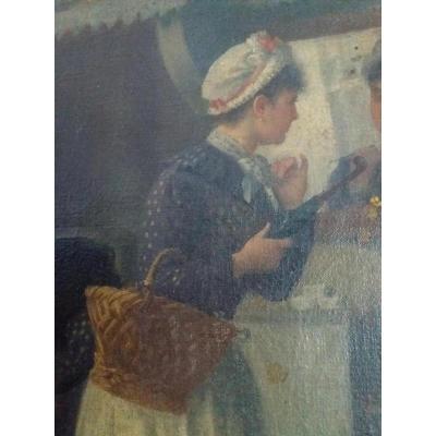 Basile Lemeunier (1852-1922). Scêne d'Intérieur.