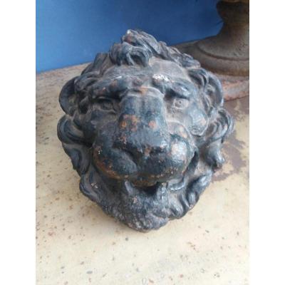 Tête De Lion En Fonte De Fer....circa 1830