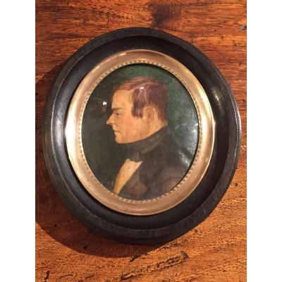 Portrait Of A Man In Miniature Profile XIX
