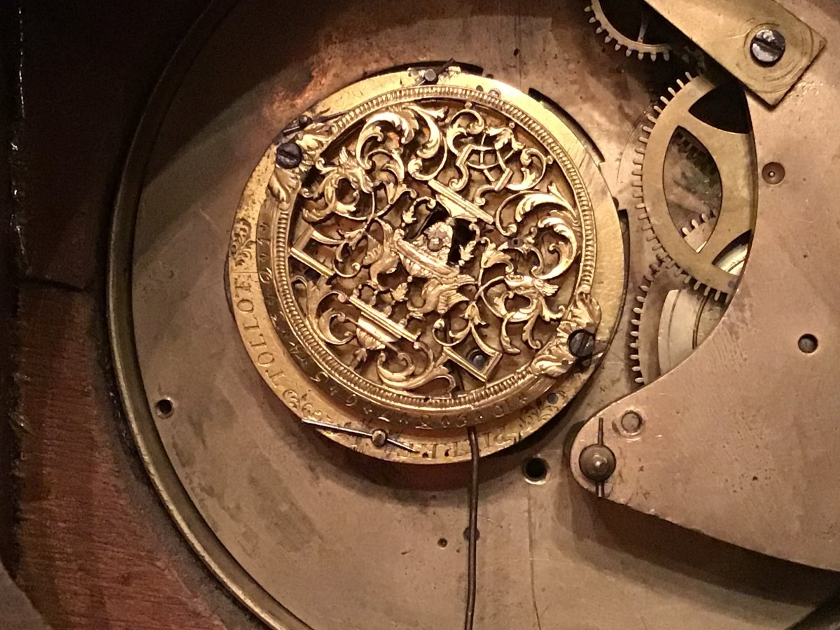 Pierre Tollot Watchmaker 1671-1742 Small Mahogany Clock To Be Revised-photo-3