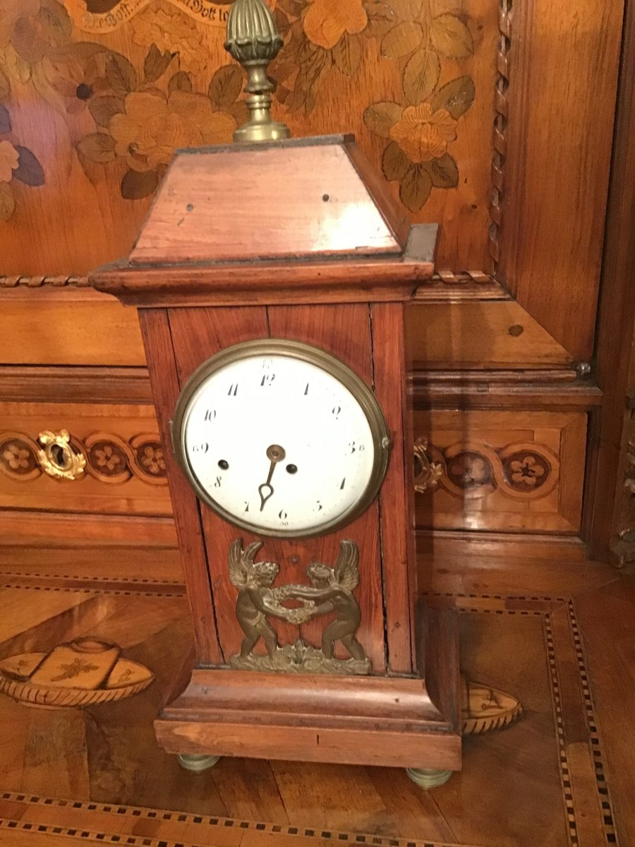 Pierre Tollot Watchmaker 1671-1742 Small Mahogany Clock To Be Revised