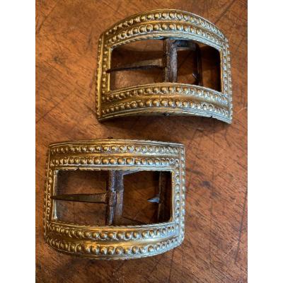 Boucles de chaussures en bronze XVIII ème
