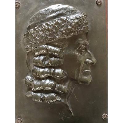 Bas Relief en bronze Paul Louis Weiller