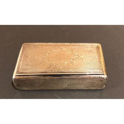 French Snuff Box In Solid Silver