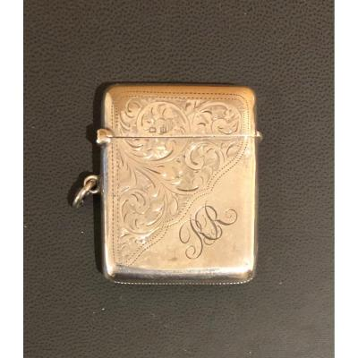 English Solid Silver Matchbox
