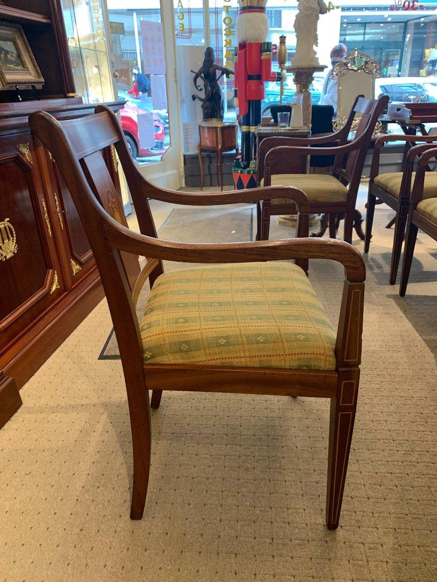 8 Chaises à Accoudoirs En Acajou-photo-4