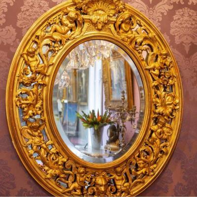 Miroir Ovale D'époque Napoléon III