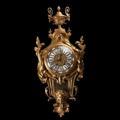 Important Louis XVI Style Bronze Applique Cartel