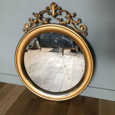 Ancien Miroir Rond