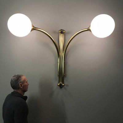 Art Deco Style Brass Wall Lamp