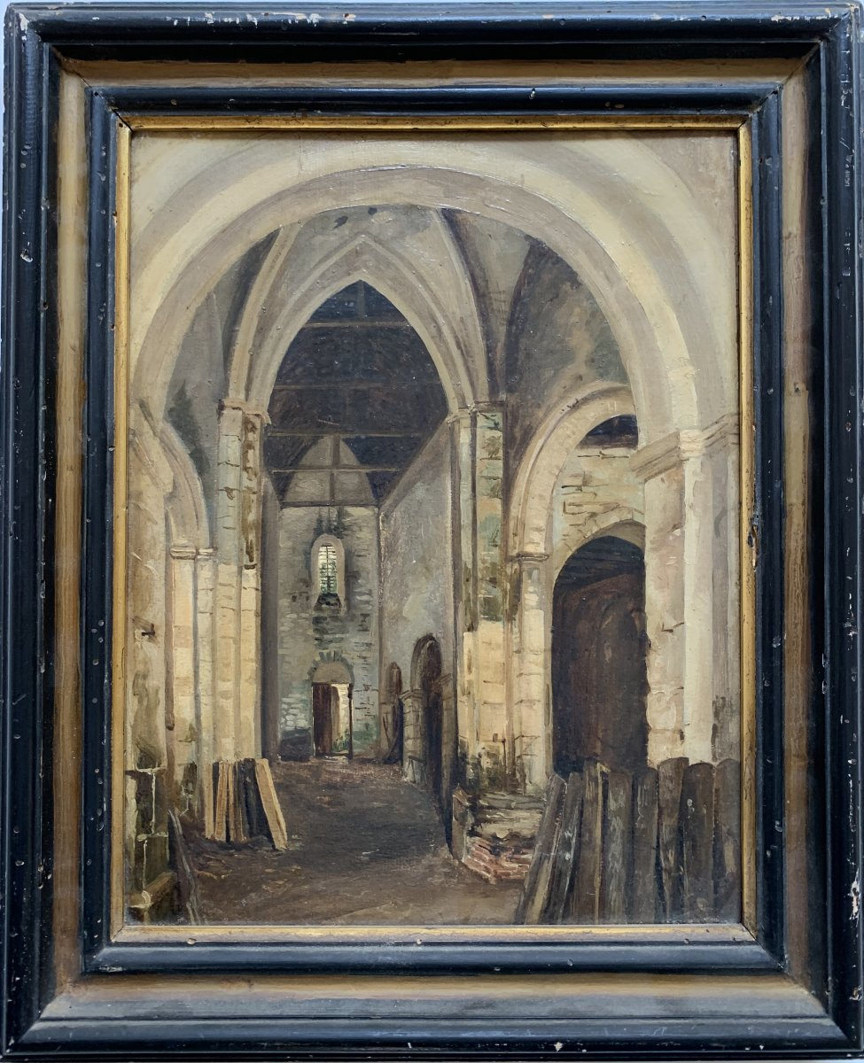 François -marius Granet (1775-1849) Church Interior