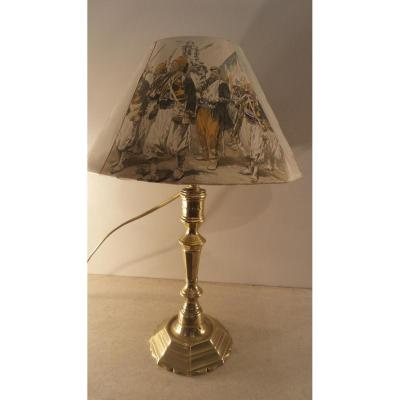Bougeoir Louis XIV Monté En Lampe