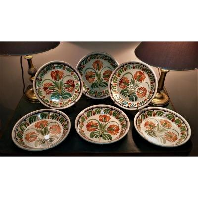 Series Of 6 Saintongeaises Plates XIX