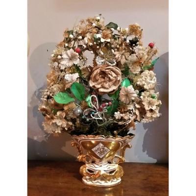 Vase de  Mariée et son Bouquet XIX