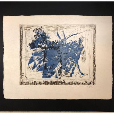 Lithographie De Jean Paul Riopelle (1923-2002) Eau forte EA signée .