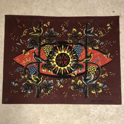 """""""the Sun And The Vine"""" Printed Tapestry Jean Picard The Sweet"""