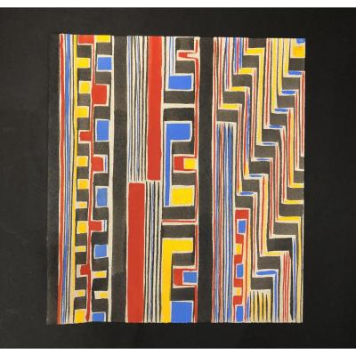 Gouache Sonia Delaunay Fabric Project (1920-1933)