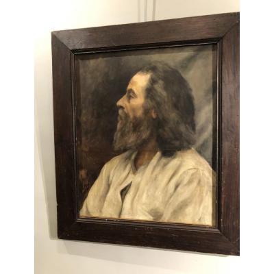 Portrait De Mikhaïl Tchekhov  (1908) Par F De Fayet Huile Sur Toile