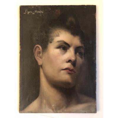 Portrait De Femme  d' Auguste Feyen -Perrin