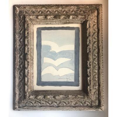 Résurrection De L'oiseau - 1958 - Georges Braque