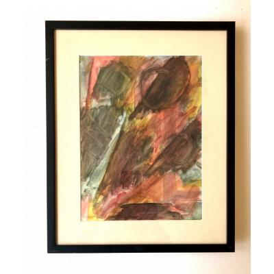Aquarelle Sur Papier - David Lan-bar 1912-1987