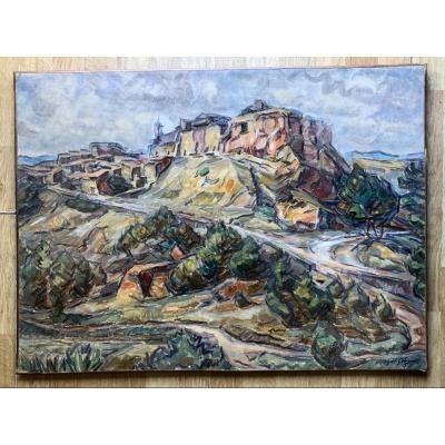 Huile Sur Toile «la Montagne Sainte Victoire»1955