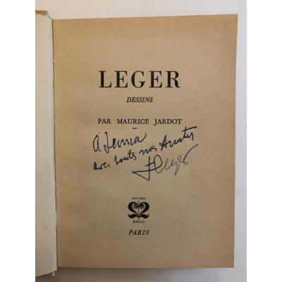 Livre De Dessin De Fernand Léger Signature de Fernand Leger 1953
