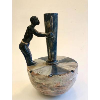 Vase En Terre émaillée 1950