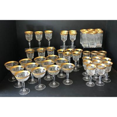 1950s Murano Cut Crystal Glass Service