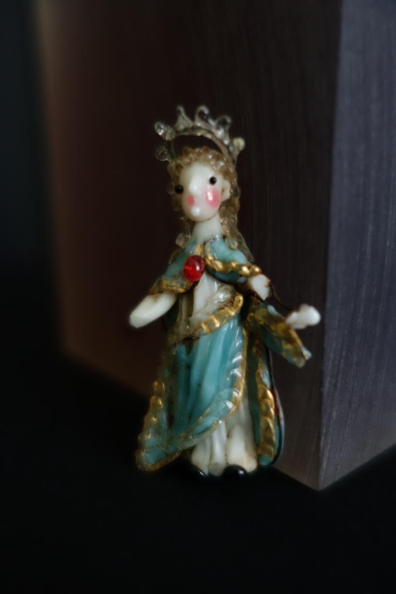 """Ascension En Verre Filé """"dit De Nevers"""" époque Louis XIV"""