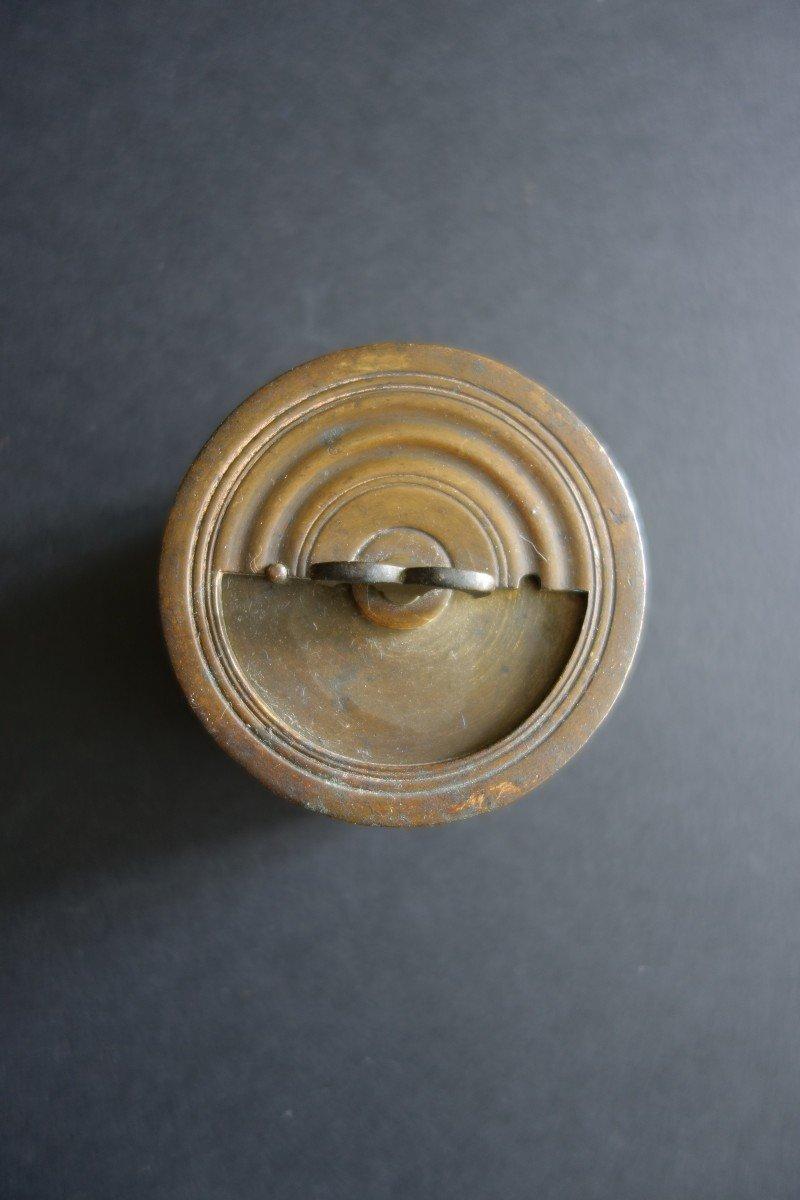 Boite à Sable En Alliage Cuivreux XVIIIe-photo-3