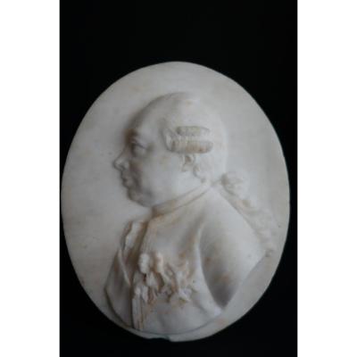 Profil En Marbre d'Etienne-françois De Choiseul-beaupré-stainville Par Mathias Koegler, XVIIIe