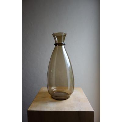 Smoked Glass Vase, Daum 30s
