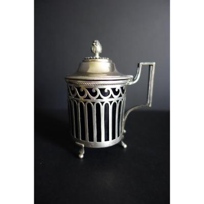 Mustard Pot Sterling Silver, Paris Consulate Period