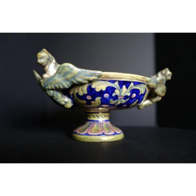 Renaissance Inspiration Earthenware Cup, Blois Late Nineteenth