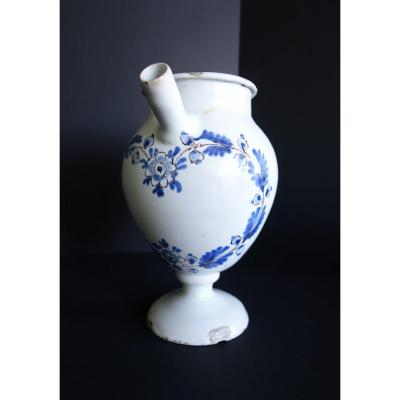 Chevrette With Blue Floral Decor On White Background, Nevers Eighteenth