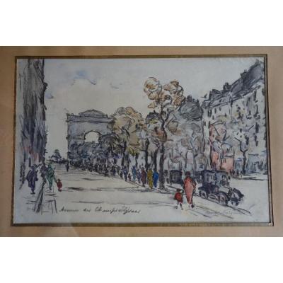 Henri Noizeux (1871-?),  Avenue Des Champs Elysées