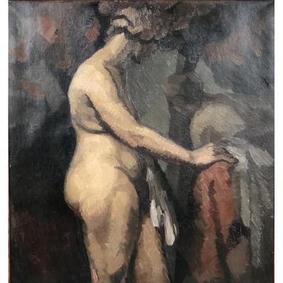 Profile Of Naked Woman, 1923, By G. Fragnaud.